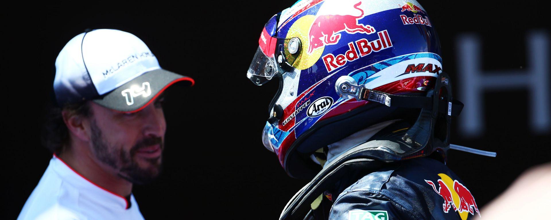 F1 2016: Fernando Alonso e Max Verstappen