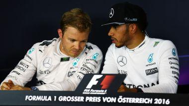 F1 2016: Nico Rosberg e Lewis Hamilton (Mercedes)