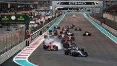 F1 2017 GP Abu Dhabi, la partenza