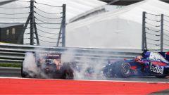 F1 2017 GP Austria, il contatto di Daniil Kvyat e Fernando Alonso