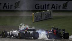 F1 2017 GP Bahrain, il contatto tra Lance Stroll e Carlos Sainz Jr