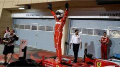F1 2017 GP Bahrain, Sebastian Vettel esulta per la seconda vittoria stagionale