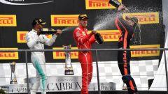 F1 2017 GP Belgio, i festeggiamenti del podio