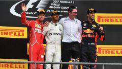 F1 2017 GP Belgio, il podio di Spa-Francorchamps