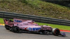 F1 2017 GP Belgio, Sergio Perez dopo il contatto con Esteban Ocon