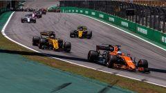 F1 2017 GP Brasile, l'azione della prima curva