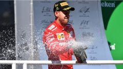 F1 2017 GP Brasile, Vettel festeggia la vittoria di Interlagos