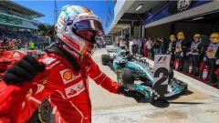 F1 2017 GP Brasile, Vettel in parco chiuso