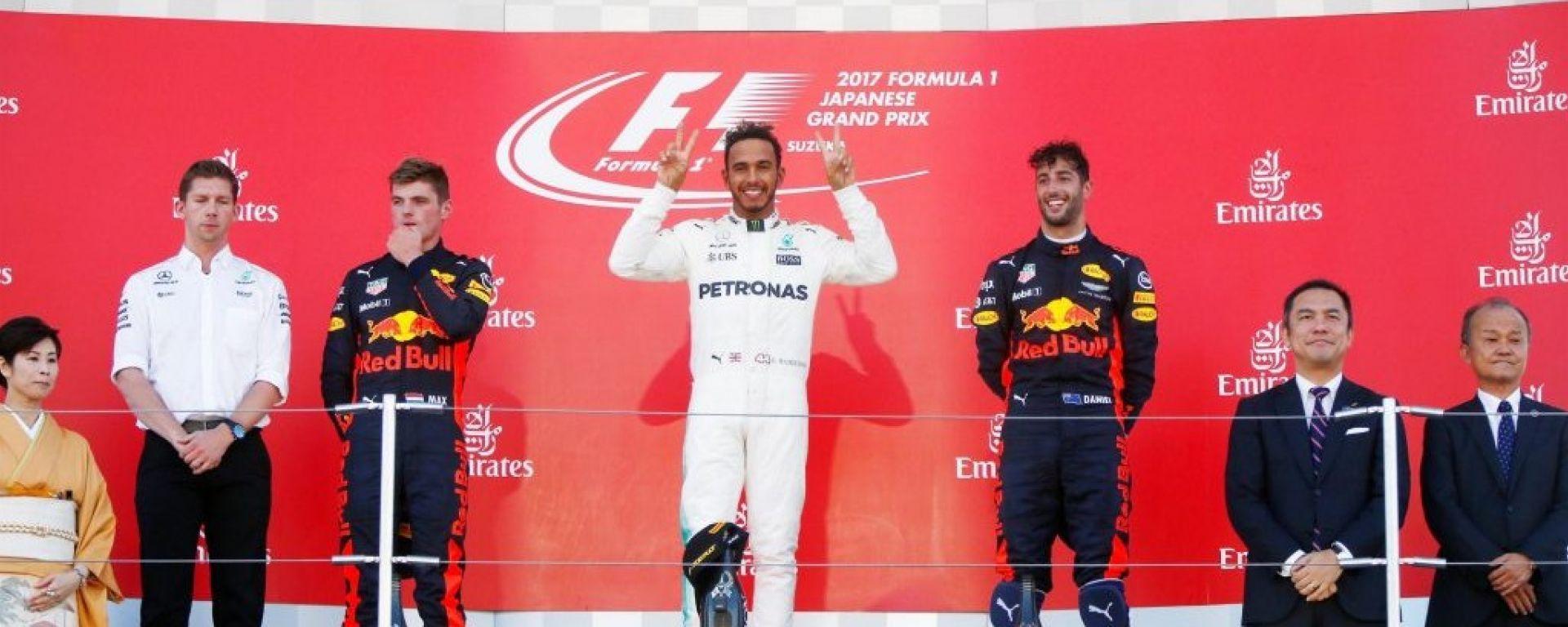 F1 2017 GP Giappone, il podio