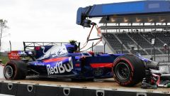 F1 2017 GP Giappone, la STR12 distrutta di Carlos Sainz Jr