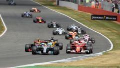 F1 2017 GP Inghilterra, azione dopo la partenza