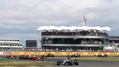 F1 2017 GP Inghilterra, azione in pista