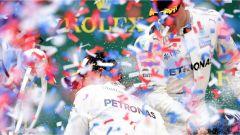 F1 2017 GP Inghilterra, festa sul podio