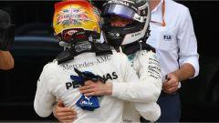 F1 2017 GP Inghilterra, Hamilton e Bottas