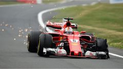 F1 2017 GP Inghilterra, la foratura di Sebastian Vettel