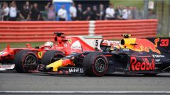 F1 2017 GP Inghilterra, la lotta tra Vettel e Verstappen