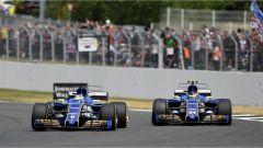 F1 2017 GP Inghilterra, le due Sauber in azione