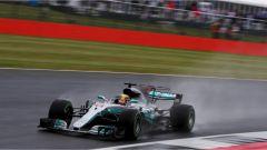F1 2017 GP Inghilterra, Lewis Hamilton sotto la pioggia
