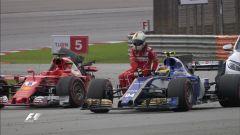 F1 2017 GP Malesia, il contatto Vettel-Stroll