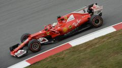 F1 2017 GP Malesia, Sebastian Vettel in azione