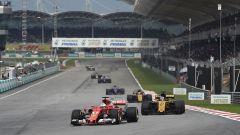 F1 2017 GP Malesia, Sebastian Vettel in rimonta