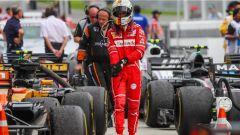 F1 2017 GP Malesia, Vettel nel parco chiuso