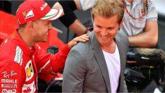 F1 2017 GP Monaco, Vettel e Rosberg