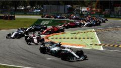 F1 2017 GP Monza, azione in prima variante
