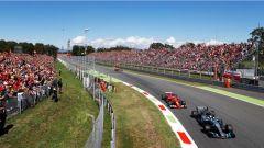 F1 2017 GP Monza, Bottas vs Raikkonen alla Parabolica