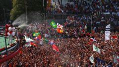 F1 2017 GP Monza, i festeggiamenti del podio