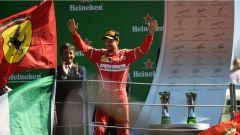 F1 2017 GP Monza, Sebastian Vettel sul podio