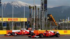 F1 2017 GP Russia, le due Ferrari in azione