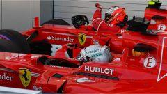 F1 2017 GP Russia, le due Ferrari in parco chiuso