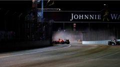 F1 2017 GP Singapore, il botto di Sebastian Vettel