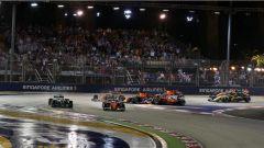 F1 2017 GP Singapore, il contatto alla prima curva