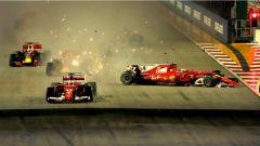 F1 2017 GP Singapore, Kimi Raikkonen perde il controllo della SF70H