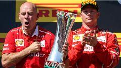 F1 2017 GP Ungheria, Kimi Raikkonen con Jock Clear