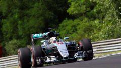 F1 2017 GP Ungheria, la Mercedes di Lewis Hamilton