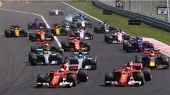 F1 2017 GP Ungheria, la partenza