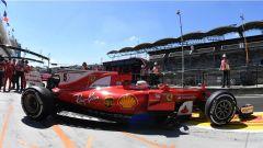 F1 2017 GP Ungheria, Sebastian Vettel esce dai box