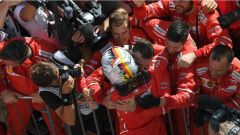 F1 2017 GP Ungheria, Sebastian Vettel insieme alla Scuderia Ferrari