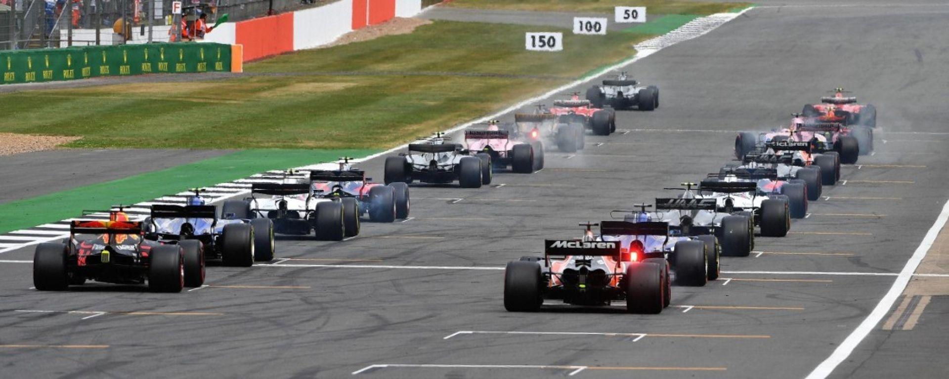 F1 2017, griglia di partenza di Silverstone