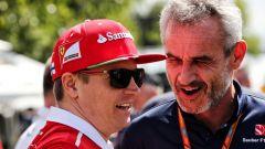 F1 2017: Kimi Raikkonen (Ferrari) con Beat Zehnder (Sauber)