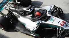 F1 2017 Test Hungaroring, George Russell sulla Mercedes