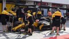 F1 2017 Test Hungaroring, Robert Kubica al pit-stop
