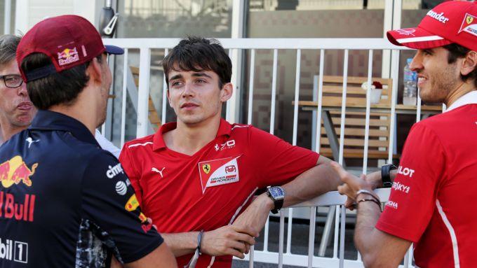 F1 2017: un giovane Charles Leclerc con un altro pilota passato dalla FDA, Antonio Giovinazzi