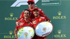 F1 2018 GP Australia, il podio Ferrari