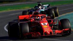 F1 2018 GP Australia, Vettel in azione a Melbourne