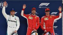 F1 2018 GP Cina, i primi tre qualificati