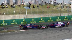 F1 2018 GP Cina, il contatto tra le Toro Rosso